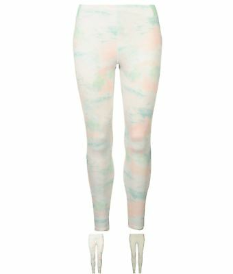 FASHION USA Pro Panel Leggings Donna PinkMarble/Blue