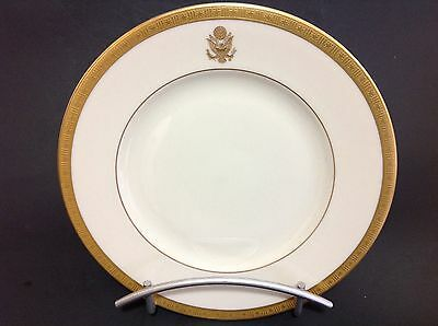 """Syracuse China Historical Presidential Railroad Car Old Ivory Plate 8"""" W. Signed"""