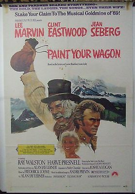 PAINT YOUR WAGON, CLINT EASTWOOD, Movie Poster 1969 USA One Sheet, Original