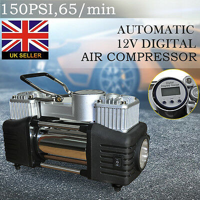 12V Automatic LED Digital Air Compressor 150Psi Car Tyre Inflator Heavy Duty