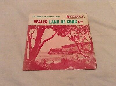 The Morriston Orpheus Choir-Wales:Land Of Song 2 EP Single.Columbia SEG 7878.