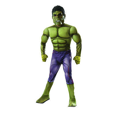 Deluxe Hulk Halloween Costume with Exclusive Gloves - Child Size M 8-10