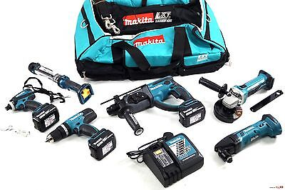 Makita 18v 6 Pieces Kit Set DLX6021M 4ah Brand New !!