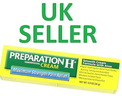 *USA FORMULA* Preparation H Cream MAXIMUM STRENGTH Pain Relief Haemorrhoid/Piles
