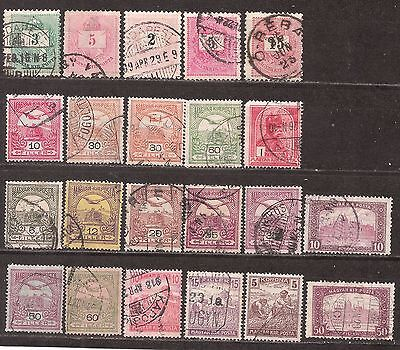 Hungary  22 mixed used early stamps