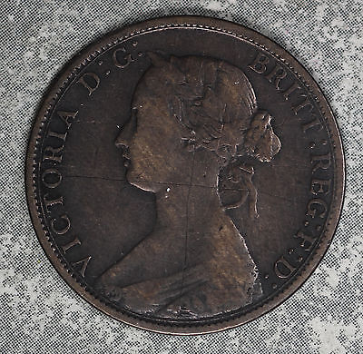 1862 Nova Scotia One Cent Coin - Better Date!!
