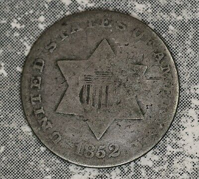 1852 Type 1 Three Cent Silver - Good Condition
