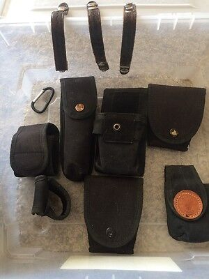 SECURITY GUARD LAW ENFORCEMENT Equip. Holders, Keepers, Misc Used Condition