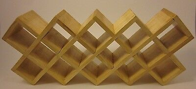 """KAMENSTEIN Bamboo Criss Cross Spice Shelf Rack 18 Spaces Solid Wood Unique 18"""""""