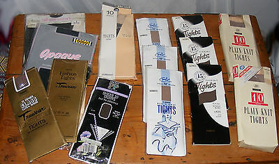 LOT of 13 Vintage Tights & Stockings Wolford Truwear Glass Sheer Black Aristoc