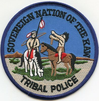 SOVEREIGN NATION OF THE KAW Indian Tribe OKLAHOMA OK TRIBAL POLICE PATCH