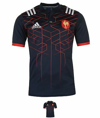 FASHION adidas France Rugby Home Jersey Mens Navy/White