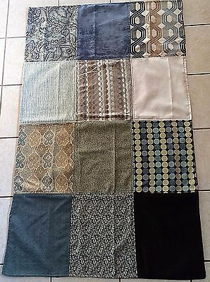 New Lap Quilt Wall Hanging Throw Upholstery Fabric Hand Made 58 X 35