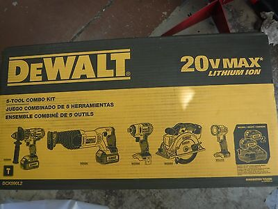 Dewalt Dck590L2 20 Volt Max Lithium Ion 5 Tool Combo Kit **new Not Refurbished**
