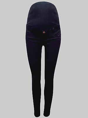 Maternity New Look (ex) Black Super Skinny Jeans Over The Bump 8 12 14 18