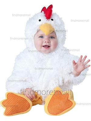 Baby Girls Boys Chicken Animal Halloween Fancy Dress Costume White Onesie Outfit