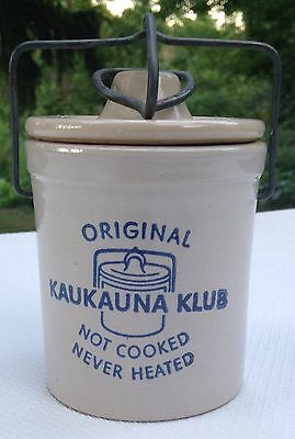 Kaukauna Klub Cheese Crock Top Bail Advertising