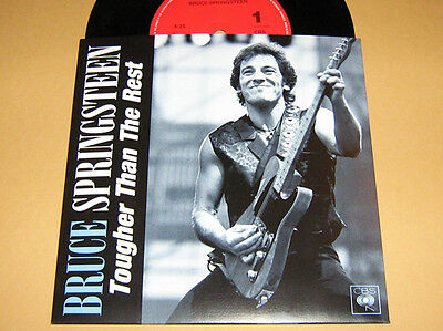 BRUCE SPRINGSTEEN - RARE 45 ** TOUGHER THAN THE REST ** With Diff.Fan Sleeve
