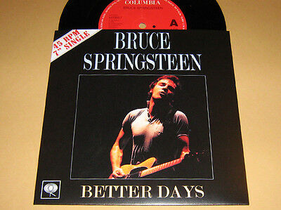 BRUCE SPRINGSTEEN - RARE 45 ** BETTER DAYS ** With Diff.Fan Sleeve