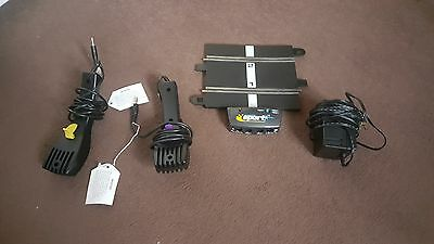 Scalextric Hornby transformer c912 and 2 x controllers + control adaptor track