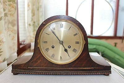 German/english 8 Day Striking Mantle Clock.