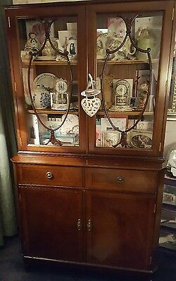 antique cabinet/ bookcase