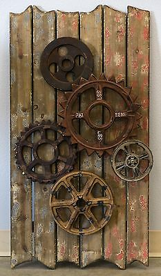 Rustic Gears Wall Hanging Steampunk Decor