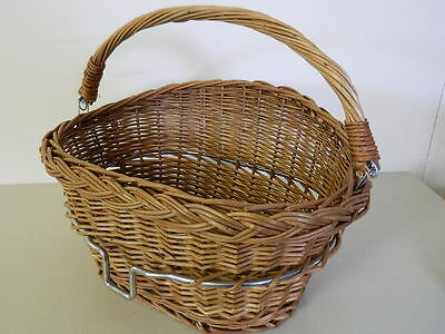 Wicker Bicycle Basket with Handle