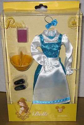 Disney Store parks BELLE Costume blue dress clothes fashion beauty beast doll