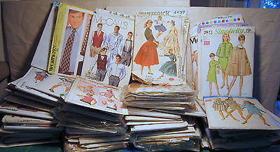 Vintage Sewing Patterns LOT of 75 McCalls Butterick Simplicity 60s 70s 80s Knit