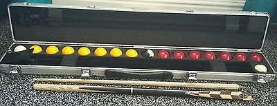 Aramith cue case 2 cues pool snooker balls accessories  NEW