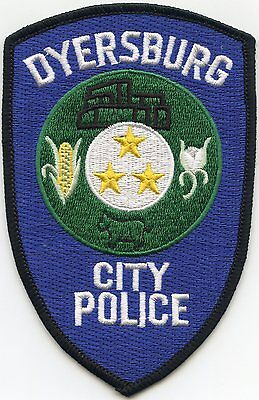 Dyersburg Tennessee Tn City Police Patch