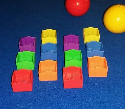 Pool snooker chalk holders multi colours x12 NEW