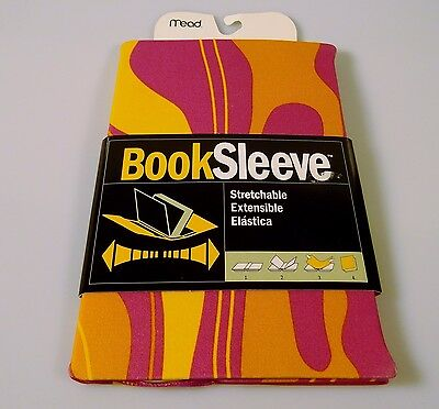 Mead Stretchable Fabric Book Sleeve Cover New