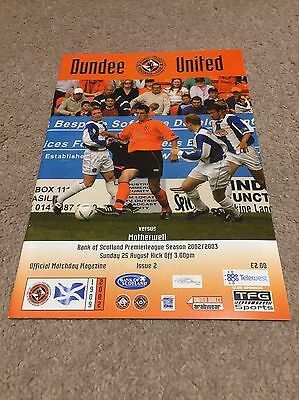 Dundee United v Motherwell 2002/03