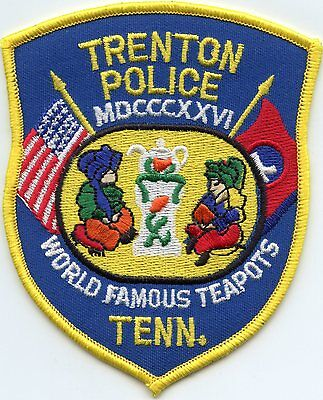 TRENTON TENNESSEE TN World Famous Teapots POLICE PATCH