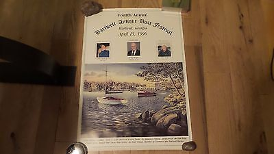 Posters 1st and 4th Hartwell Antique Boat Festibal Annual 1993 & 1996