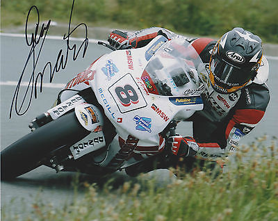Guy Martin Isle Of Man Tt Genuine Hand Signed Photo *certificate Of Authenticity