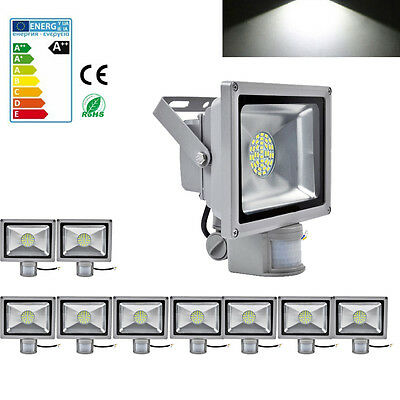 10X 30W LED PIR Motion Sensor Floodlight Cool White Outdoor Security Lamp IP65