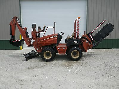 2005 Ditch Witch Rt55 Hydraulic Sliding Trencher Backhoe Vermeer Rt450