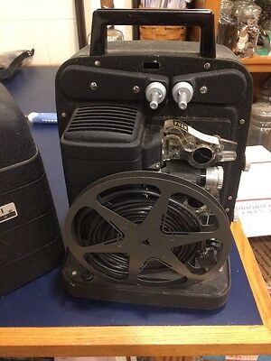 Vintage Bell & Howell AutoLoad 8mm Movie Projector in Case