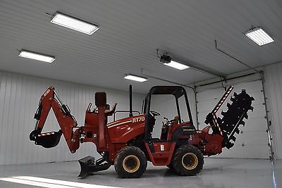 2002 Ditch Witch Rt70 A910 Trencher Backhoe Vermeer Low Hours! Rt75 Rt80 Rt95