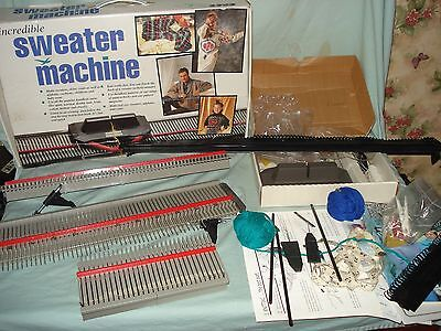 Bond Incredible Sweater Knitting Machine With Accessory Tools And Box