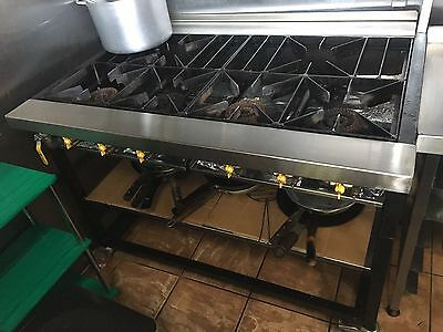 Commercial 6 Ring Gas Hob
