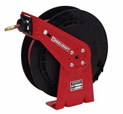 REELCRAFT Spring Return Hose Reel, 1000 psi Max.,  3/8 In. x 50 ft. - RT650-OMP