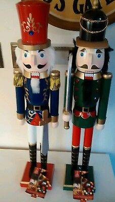 set of 2 large nutcracker soldiers 62cm collection cash only barnsley