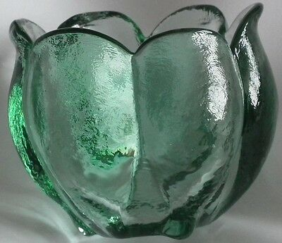 'Blenko' Green Tulip Vase.Heavy and Solid. Very Good Condition!