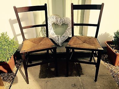 Hand Made Pair Of Antique Chairs
