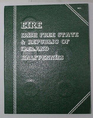 Full Set of Irish Half Penny Pre Decimal Chick and Hen Coins in Whitman Folder