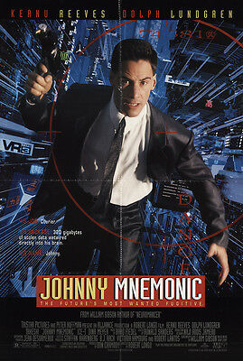 Johnny Mnemonic 1995 Original Movie Poster Action Crime Sci-Fi